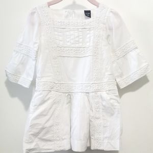 Baby Gap White Long Sleeve Dress, Size 2